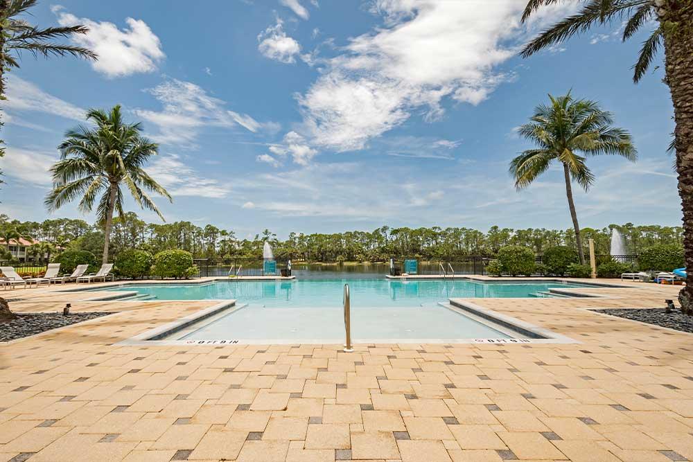 Pool and Spa with Tanning Ledge | Tarpon Bay Community Association, Inc. - Naples, Florida